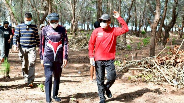 Gubernur Sulsel Nurdin Abdullah dan Rudy Djamaluddin kembali mengunjungi Pulau Lanjukang