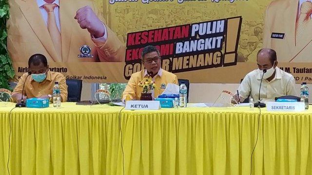 Ketua DPD I Golkar Sulsel Taufan Pawe umumkan struktur baru kepengurusannya