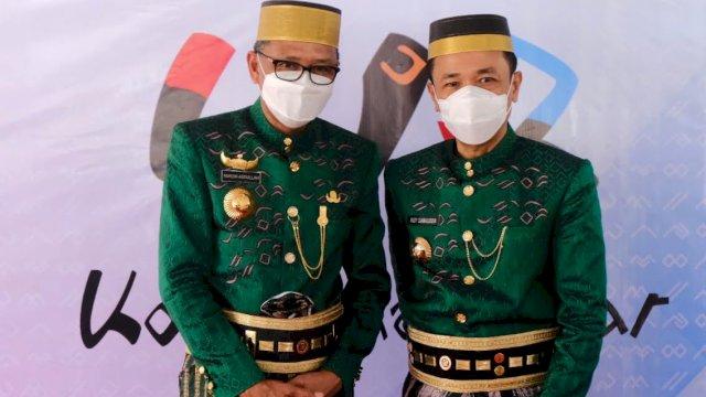 Gubernur Sulsel Nurdin Abdullah dan Pj Wali Kota Makassar Rudy Djamaluddin