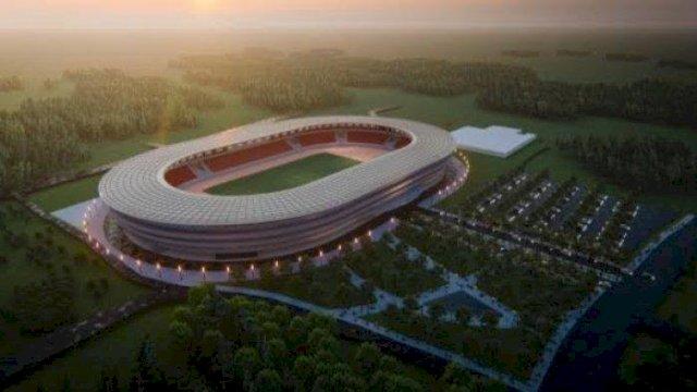 Desain Stadion Mattoanging tampak dari atas