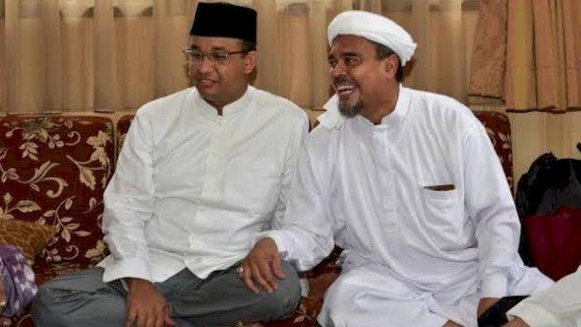 Gubernur Anies Baswedan dan Habib Rizieq