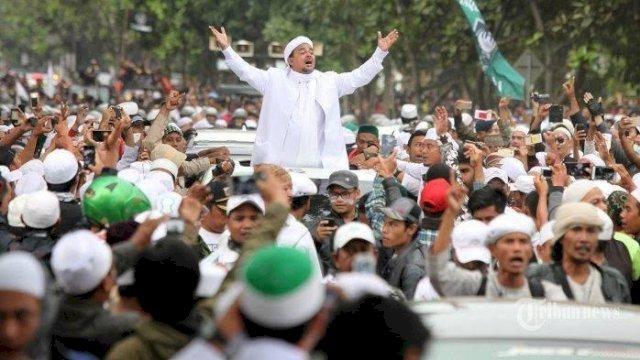 Jadwal Kepulangan Habib Rizieq Terungkap Saat Demo FPI di Kedubes Prancis