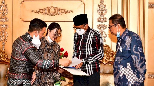 Gubernur Sulsel Nurdin Abdullah menerima perwakilan China National Technical Import and Eksport Corporation (CNTIC) asal Tiongkok.