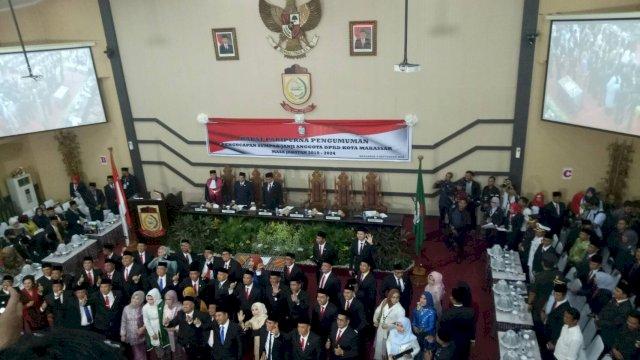 Anggota DPRD Kota Makassar 2019-2024 saat dilantik