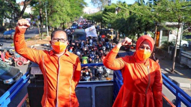 Paslon Danny-Fatma unggul jelang pencoblosan Pilwalkot Makassar