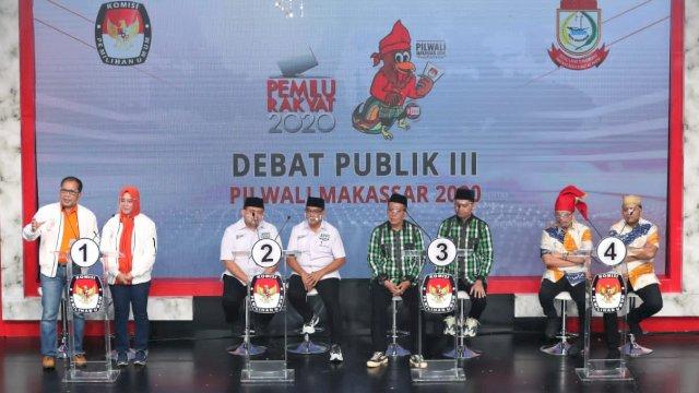 Paslon Pilwalkot Makassar 2020 saat debat publik