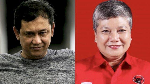 Denny Siregar/Politikus PDIP Ribka Tjiptaning.