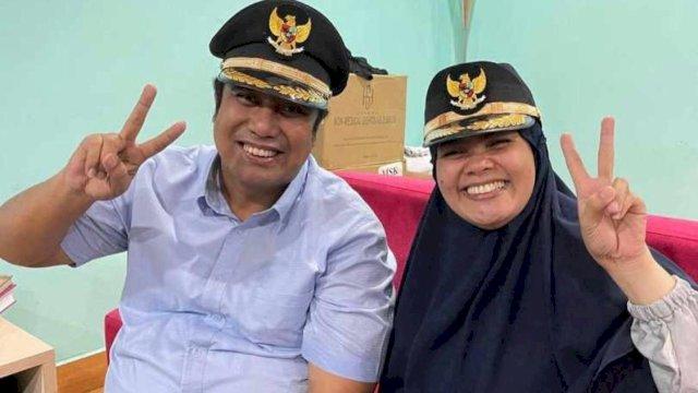 Chaidir Syam dan Suhartina Bohari fitting baju pelantikan.