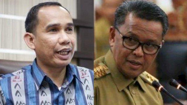 Ketua DPRD Makassar Rudianto Lallo dan Gubernur Sulsel Nurdin Abdullah