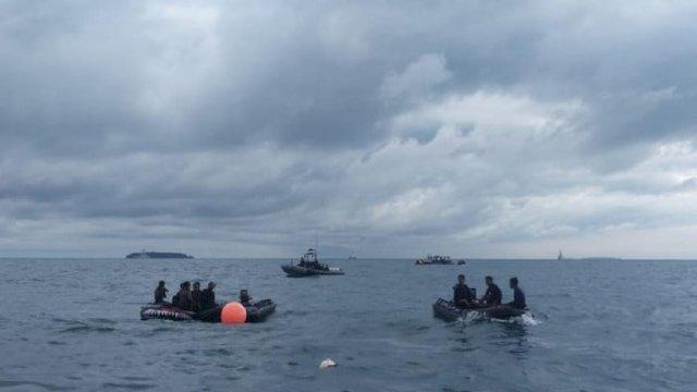 Proses pencarian Sriwijaya Air di Kepulauan Seribu.