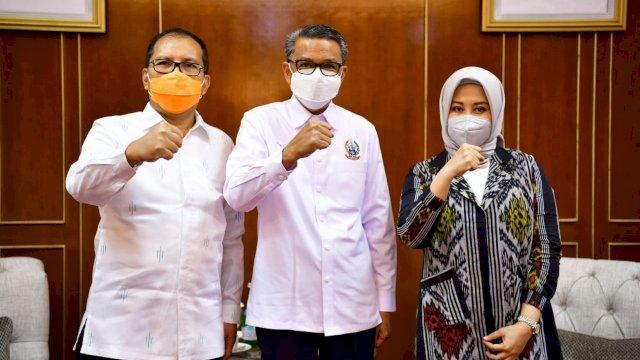 Danny-Fatma dan Gubernur Nurdin Kompak Putih-putih Bertemu: Bicara dari Hati ke Hati