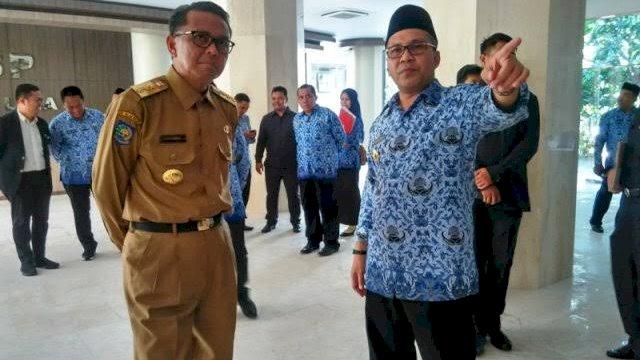Gubernur Sulsel Nurdin Abdullah dan Danny Pomanto (foto: int)