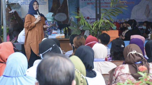 Ketua Komisi B DPRD Sulsel dari Fraksi NasDem, Rachmatika Dewi alias Cicu saat Reses