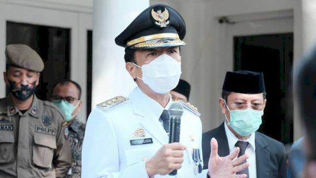 Rudy Djamaluddin saat pertama kali menjabat Pj Wali Kota Makassar. (FOTO:INT)