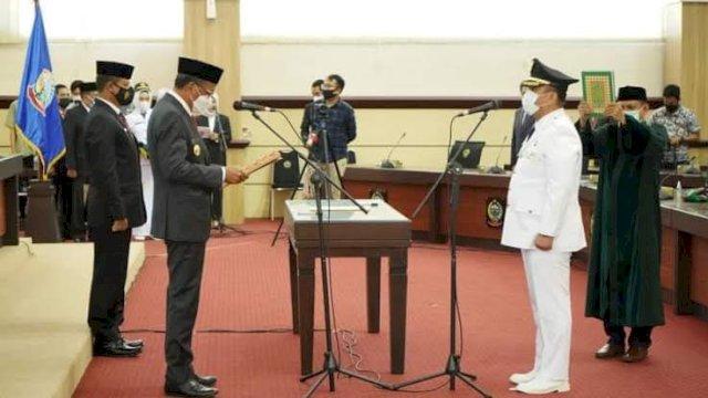 Gubernur Sulsel Lantik Irwan Bachri sebagai Bupati Luwu Timur