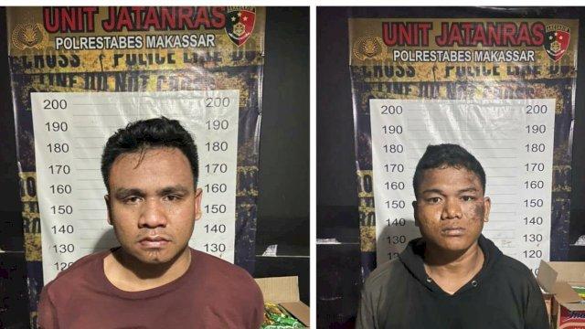 Tampan dua perampok rumah mewah di Kota Makassar