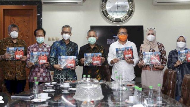 Wali Kota Makassar terpilih, Moh Ramdhan Pomanto saat melaunching Tim Transisi Danny-Fatma.