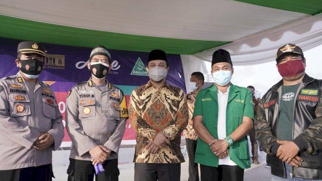 Bantu Pemerintah, GP Ansor Sulsel Kerjasama dengan Aice Bagikan 5 Juta Masker