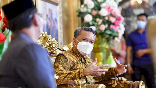 Gubernur Sulsel Nurdin Abdullah menerima rombongan dari Kemenag Sulsel