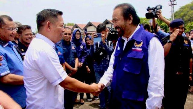 Ketua Umum Partai NasDem Surya Paloh saat berkunjung ke Sulsel.
