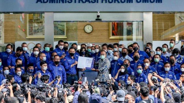AHY Bareng Ketua Demokrat se-Indonesia Geruduk Kantor Menkumham, Perlawanan Pertama ke Moeldoko Cs