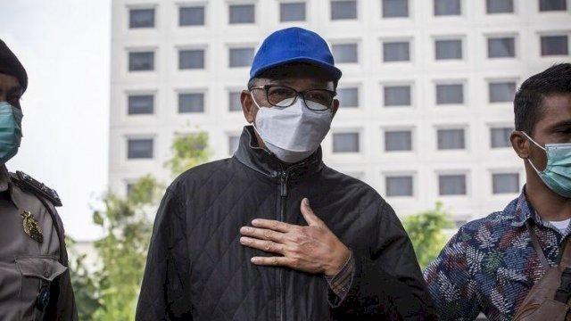 Nurdin Abdullah saat tiba di Gedung KPK, sebelum ditetapkan sebagai tersangka.