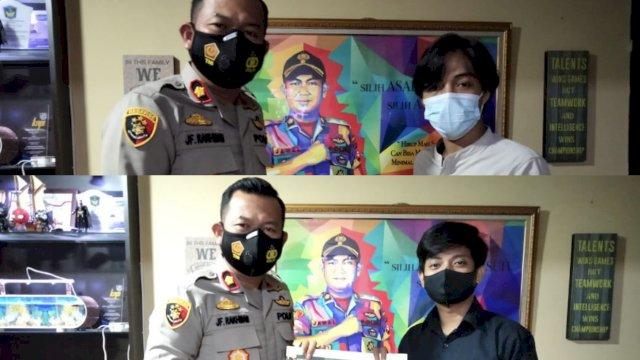 Mampu Ciptakan Suasana Aman, Kapolsek Panakukkang Makassar Diganjar Penghargaan