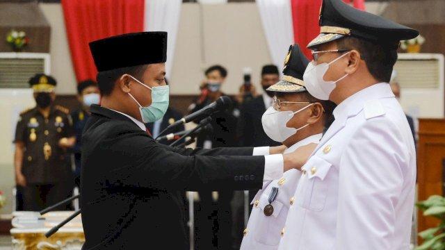 Bupati-Wakil Bupati Toraja Utara Resmi Dilantik, Plt Gubernur Sulsel Ingatkan Program Prioritas