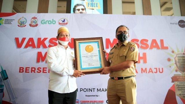 Sukses Bikin Vaksin Jadi Menyenangkan, Festival Vaksinasi Pemkot Makassar Dapat Penghargaan