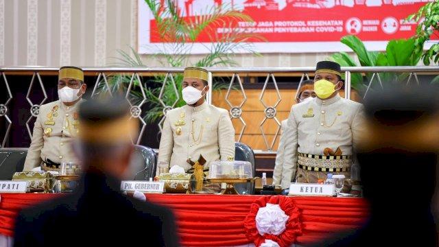 Plt Gubernur Sulsel, Andi Sudirman Sulaiman menghadiri peringatan Hari Jadi Kabupaten Bone ke-691.