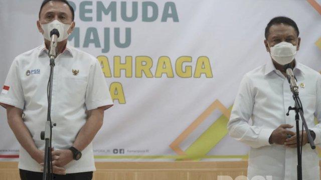 Ketum PSSI Mochamad Iriawan dan Menpora Zainudin Amali. (Foto: PSSI)