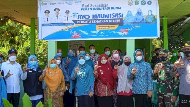 Takalar Jadi Pusat Pelaksanaan Pekan Imunisasi Dunia Tahun 2021
