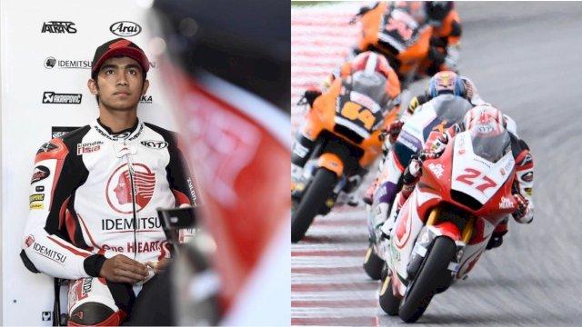 Moto3 Italia: Pembalap Asal Bulukumba Andi Gilang Ketagihan Raih Poin