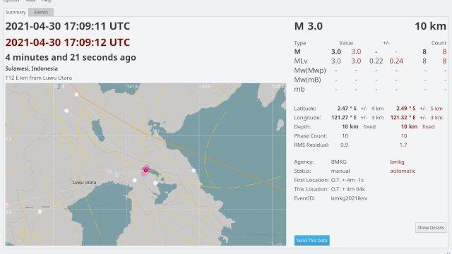 Breaking News: Gempa Bumi Landa Luwu Timur