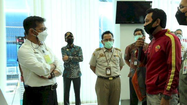 Mentan SYL saat melakukan sidak ke Tempat Pemeriksaan Karantina (TPK) Graha Segara, Pelabuhan Tanjung Priok, Jakarta (30/4/2021).