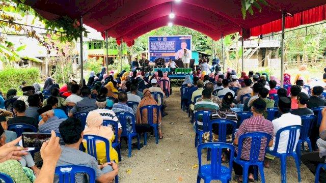Anggota DPRD Provinsi Sulawesi Selatan (Sulsel) dari Fraksi Partai NasDem, H. Irwan menggelar sosialisasi Peraturan Daerah (Perda) Sulsel No. 2 Tahun 2017, Sabtu (1/5/2021).