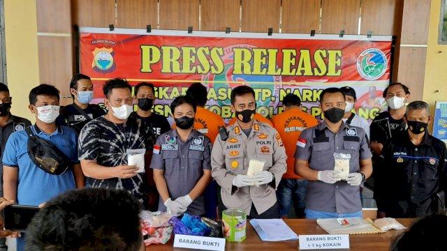 3 Bulan Ditelusuri, Polres Pinrang Sulsel Gagalkan Peredaran 1 Kg Kokain