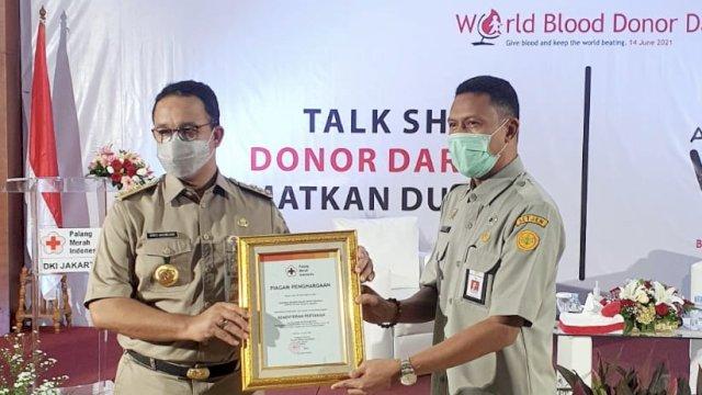 PMI Beri Penghargaan Kementan Tepat di Hari Donor Sedunia