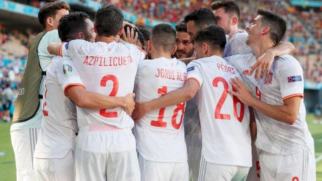 Pesta 5 Gol Spanyol Berhadiah Tiket 16 Besar Euro 2020