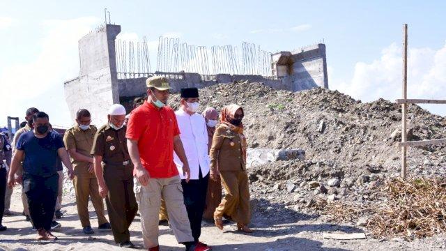 Hubungkan Kabupaten Sidrap-Wajo, Plt Gubernur Sulsel Tinjau Progres Pembangunan Jembatan Malake