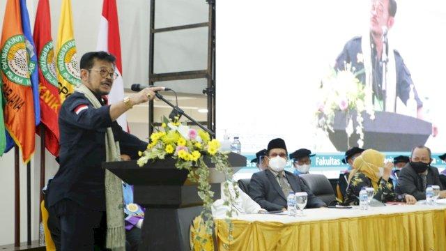 Orasi Ilmiah di UIM Makassar, SYL Bahas Peran SDM untuk Tingkatkan Produksi Pertanian