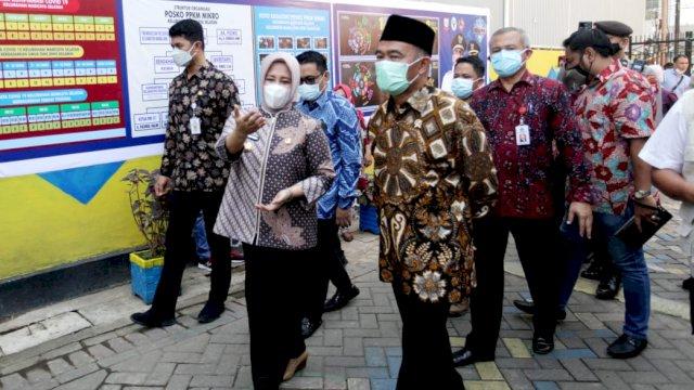 Menko PMK RI Apresiasi Upaya Pemkot Makassar Tekan Laju Covid, Wawali Fatma Sebut Komitmen Semua Pihak