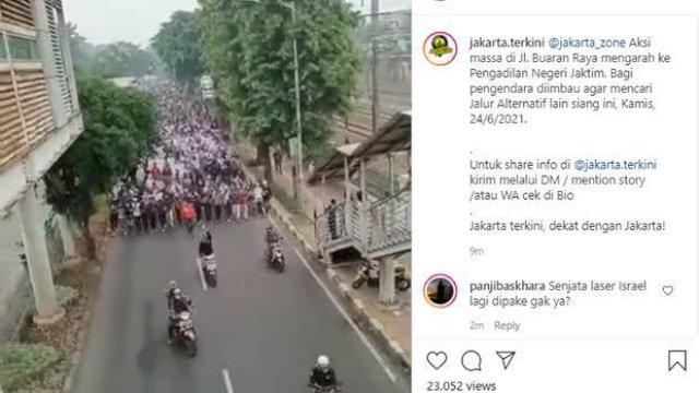 Ribuan Pendukung Rizieq Shihab Long March, Netizen: Klaster Baru