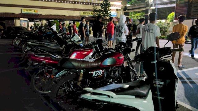 Bikin Resah, Belasan Pelaku Balap Liar Diangkut Tim Penikam Polrestabes Makassar