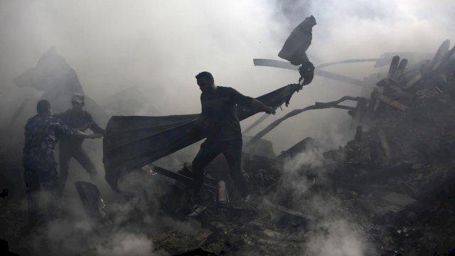Ledakan Pasar di Jalur Gaza: 1 Orang Tewas, Rumah dan Toko Rusak