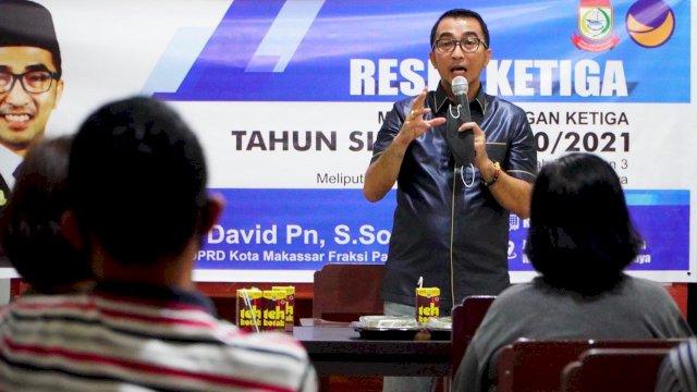Serap Aspirasi Masyarakat, Legislator NasDem Mario David Perkuat Empat Pilar Perjuangan