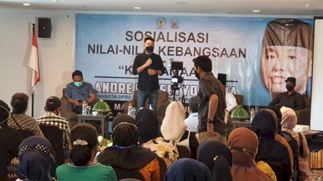 Bertemu Warga di Dua Kecamatan di Makassar, Legislator NasDem Andre Tanta Ajak Warga Vaksin dan Bicara Nilai Kebangsaan
