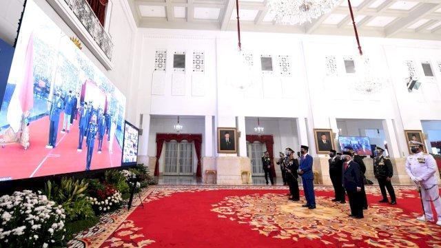 HUT Bhayangkara ke-75, Jokowi Minta Polri Terus Dukung Penanganan Covid-19