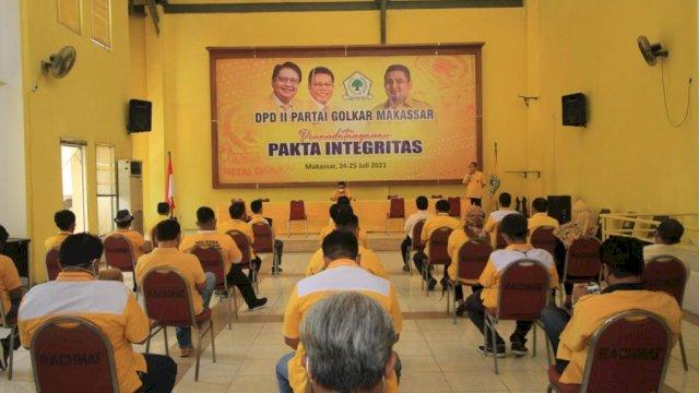Calon Pengurus Golkar Makassar Tandatangani Pakta Integritas
