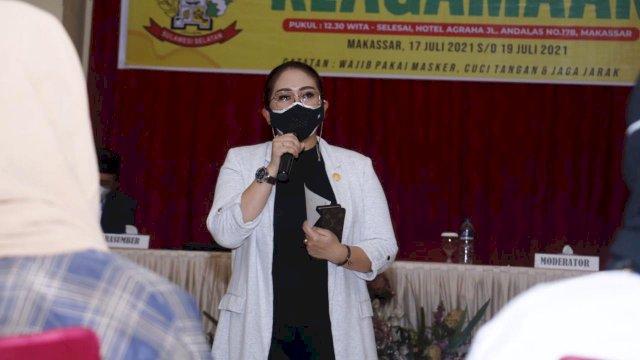 Anggota DPRD Sulsel dari Fraksi Golkar, Debbie Purnama Rusdin.